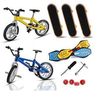 N/I Patineta con La Yema del Dedo, Patineta para Niños con Mini Dedo, Juego De Juguetes para Bicicleta con Dedos, con Ruedas De Repuesto Y Herramientas De Instalación (13.5 Cm 8 Cm 9 Cm)