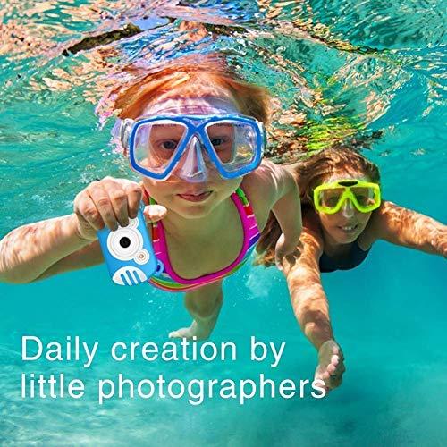 Qiandeng wasserdichte Kinder Digitalkamera, Camking HD 1080P Unterwasser-Videokamera for Kinder 18 MP 2.7 Zoll-Schirm-8X Mini-Cartoon-Kinder-Digital-Videokamera-Camcorder for Kinder Geschenke