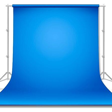 Phoneix Photography Backdrop Cloth Studio Photo Shoot Background Curtain for Live Broadcast Portrait Backdrop Blue 1X1.2M