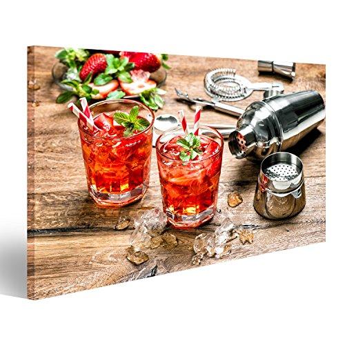 Quadro Moderno Bevande Shaker Bar Stampa su Tela - Quadro x poltrone Salotto Cucina mobili Ufficio casa - Fotografica Formato XXL