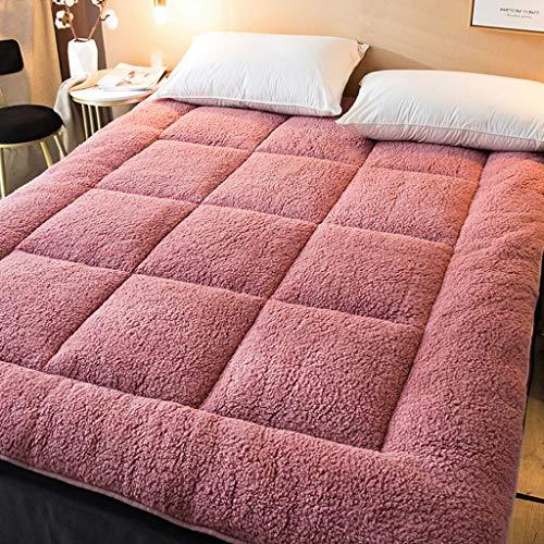 TUTUMAO Vaddering av lamm, studentsovsal med tjockare madrasser, hudvänliga, mjuka och icke-irriterandetatamimattor, enkel dubbel svamp säng skorpion, vikbar förvaring (färg: F, storlek: 90x200 cm)
