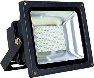 "ASD LED Floodlight 8"" cord 50W SMD Outdoor Landscape Security Waterproof UL Listed 4000K (Bright White)"