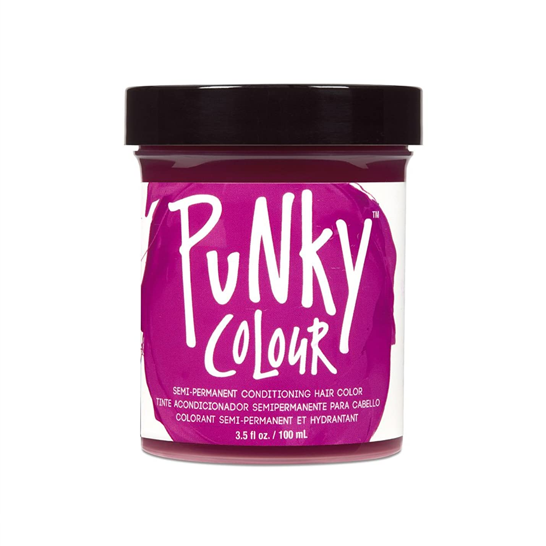 チャールズキージングハードウェア穿孔する(3 Pack) JEROME RUSSELL Punky Color Semi-Permanent Conditioning Hair Color - Rose Red (並行輸入品)