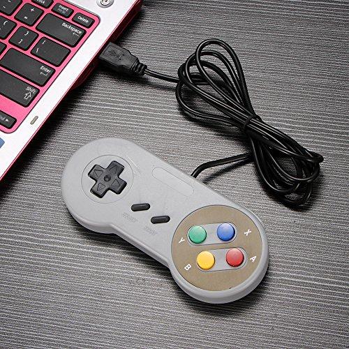 OurLeeme USB Juego Gamepad la Palanca de Mando del Juego para Nintendo SNES