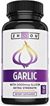 Extra Strength Garlic with Allicin - Powerful Immune System Support Formula - Enteric Coated Tablets for Easy Swallowing -...