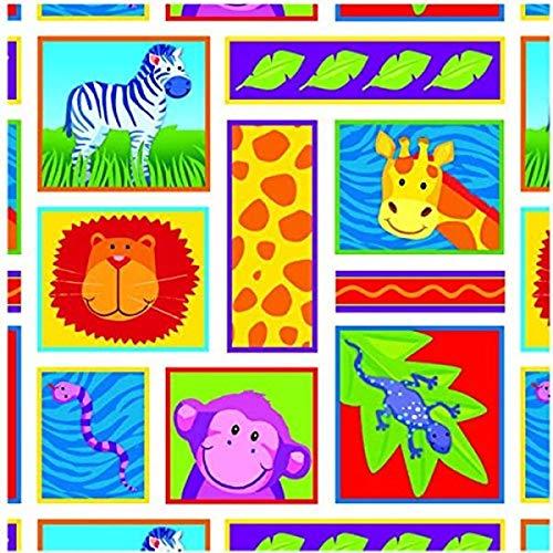 amscan des Animaux de la Jungle Printed Emballage Cadeau avec Patte