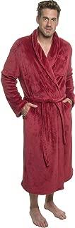 Mens Plush Shawl Collar Kimono Bathrobe Robe