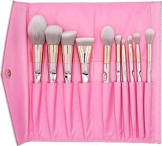 Make-upborstels, elke set van 10 make-uptools laserduim schoonheidsborstels een volledige set make-upborstels met lange st...