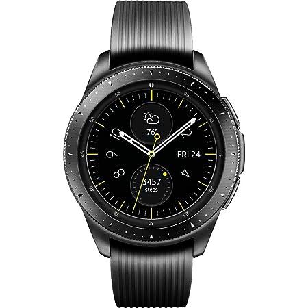 Samsung SM-R815UZKAXAR Galaxy Smartwatch 42mm 4G Stainless Steel (Midnight Black) - (Renewed)