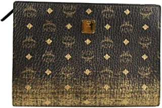 MCM Women's Gold/Black Gradient Coated Canvas Medium Pouch MXZ9AVI43DG001