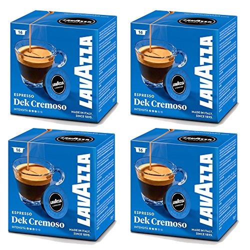 Lavazza A Modo Mio, 16capsule di Espresso Dek Cremoso per la macchina del caffè (confezione da 4)