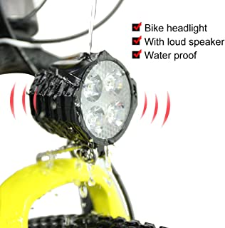 Greenergia Bicycle LED Light 36V 48V Bike Horn Waterproof Flashlight with Horn for Electric Bike 4W Headlight Front Light