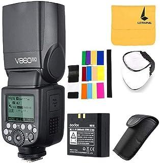 Godox V860II-C 2.4G GN60 inalambrico E-TTL HSS 1/8000s Bateria Lion Camara Flash Speedlite para Canon 6D 60D 70D 80D 700D 750D 1300D 580EX 1DX EOS Camaras (V860II-C)