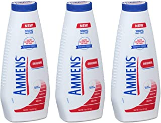 Ammens Original Medicated Powder, Talc Free Formula, 11 Ounces Each (Value Pack of 3)
