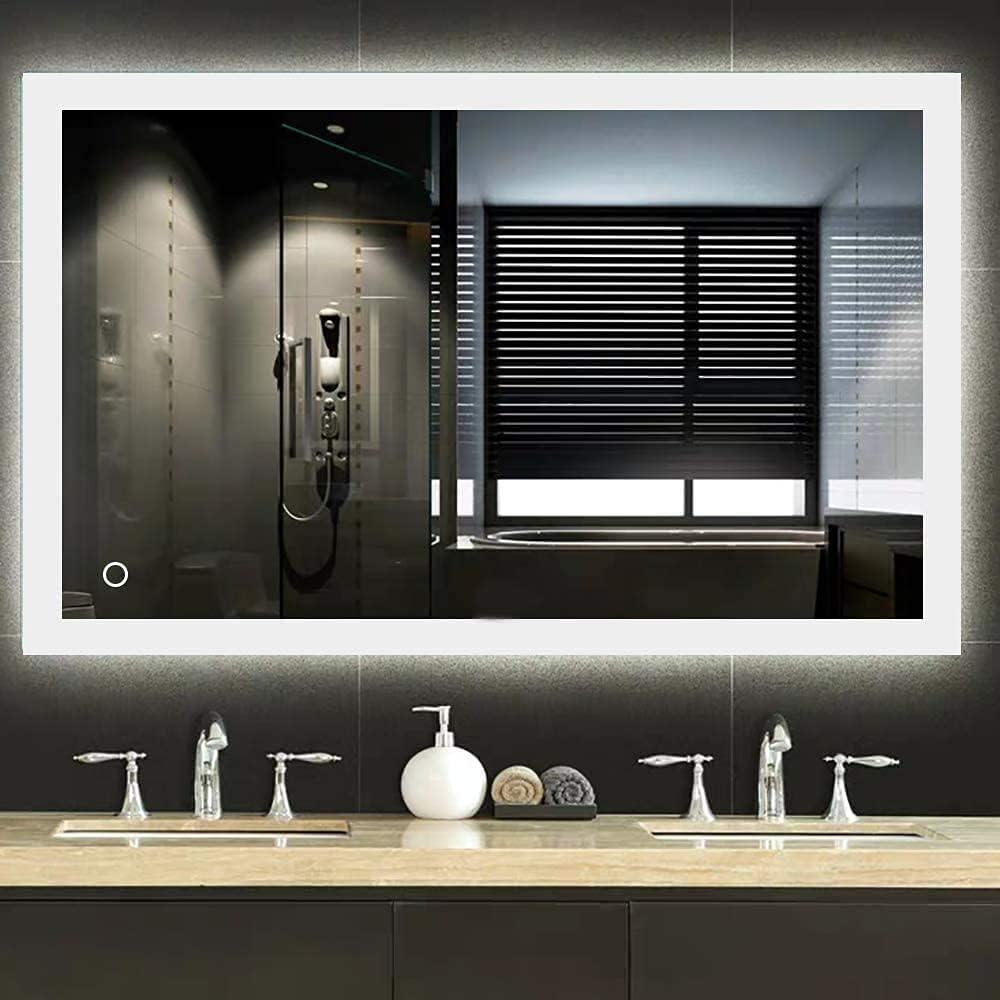 Ranking TOP11 Qasole Bathroom Mirror Wall Regular discount Mounted LED Ne The with