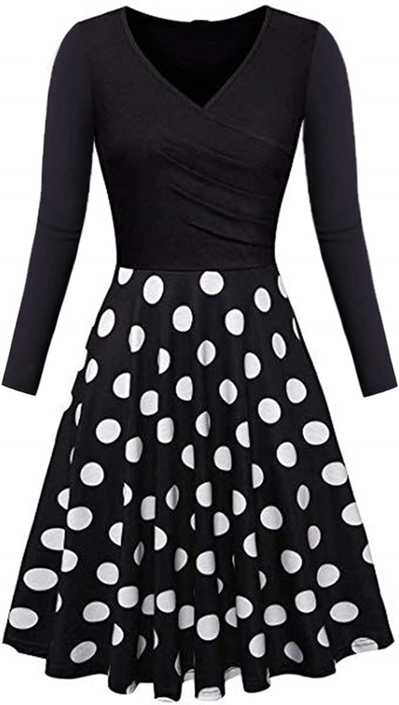 MEIbibibi Women Black Splicing Dress Slim Fitted Fall Long Sleeve Dresses Chic Wrap V Ruched Floral Print Mini Dresses