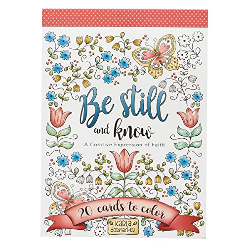 Be Still and Know   20 Inspirational and Exquisitely Designed Cards To Color   Expressions of Faith to Inspire Creativity and Relaxation   Stationery Postcard Size, 6.5 x 4.75