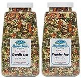 Harmony House Foods, Dried Vegetable Soup Mix (12 Oz Quart Size Jar) - Set of 2