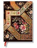 Paperblanks Impressions Florales LyonnaisesÉbène Carnet de note Ligné Midi Multicolore