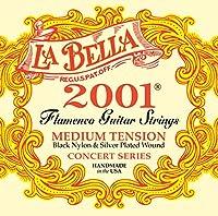La Bella 2001 Flamenco Medium Tension/Black Nylon+Silver Plated
