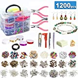 Jolitac Jewelry Making Supplies Kit Jewelry Beads, Charms, Findings, Jewelry Pliers, Beading Wire for Necklace Bracelet, Earrings Making and Repairing, DIY Creating for Great Gift for Women and Teens