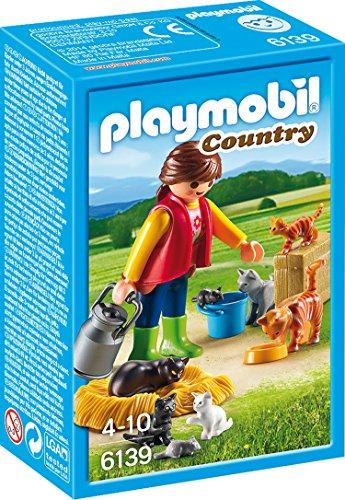 PLAYMOBIL- Mujer con Familia de Gatos, Color,...