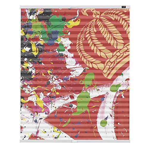 POMPÖÖS by Lichtblick HGP.100.130.123 Plissee Klemmfix, ohne Bohren, Blickdicht, On Point - Rot 100 cm x 130 cm (B x L)