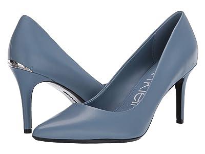 Calvin Klein Gayle Nappa (Stone Blue) High Heels