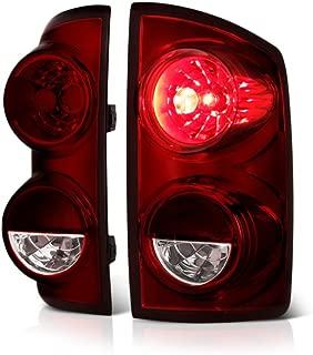 VIPMOTOZ Smoke Red Lens OE-Style Tail Light Lamp Assembly For 2007-2009 Dodge RAM 1500 2500 3500 Pickup Truck - Driver & Passenger Side