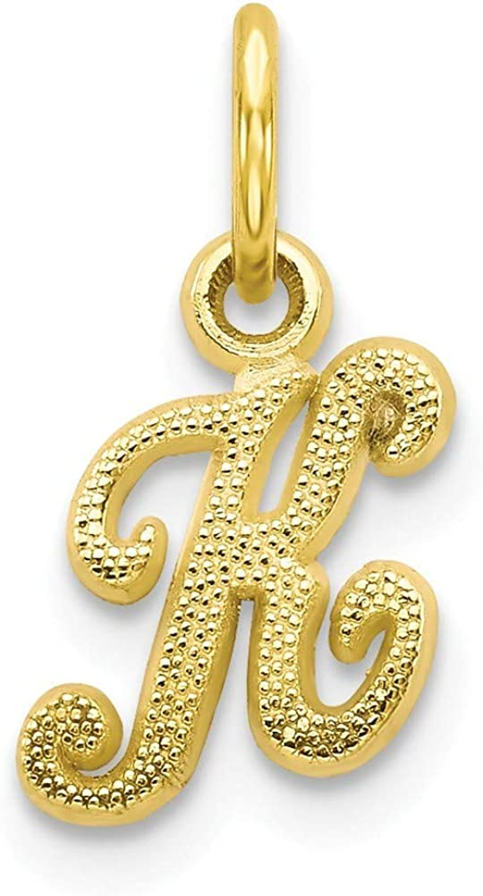 Roy Rose Jewelry 10K Yellow Gold Pendant Letter Max 90% OFF K Initial Charm Ranking TOP10