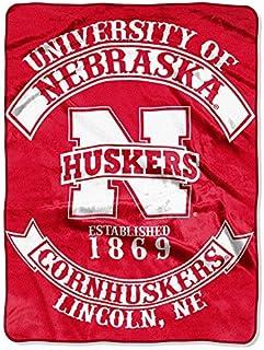 """Nebraska Cornhuskers """"Rebel"""" Raschel Throw Blanket, 60"""" x 80"""""""