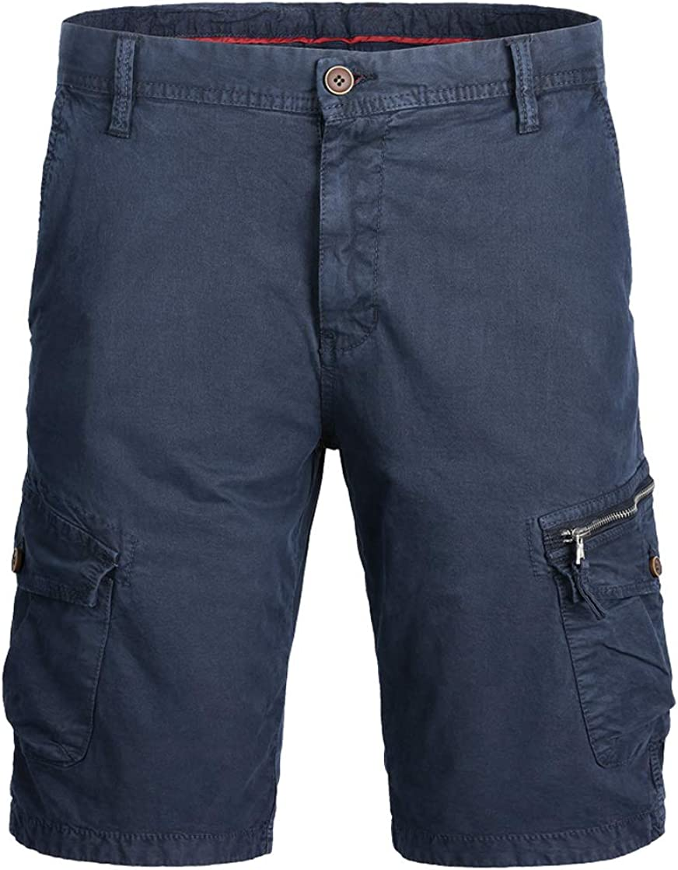 chouyatou Men's Classic Fit Knee Length Summer Casual Work Cargo Shorts