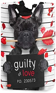 Panier à linge Slim Valentines Bulldog Chien Rose Bouche Mugshot Garçons Panier à linge Panier à linge pour garçons 11 X 1...