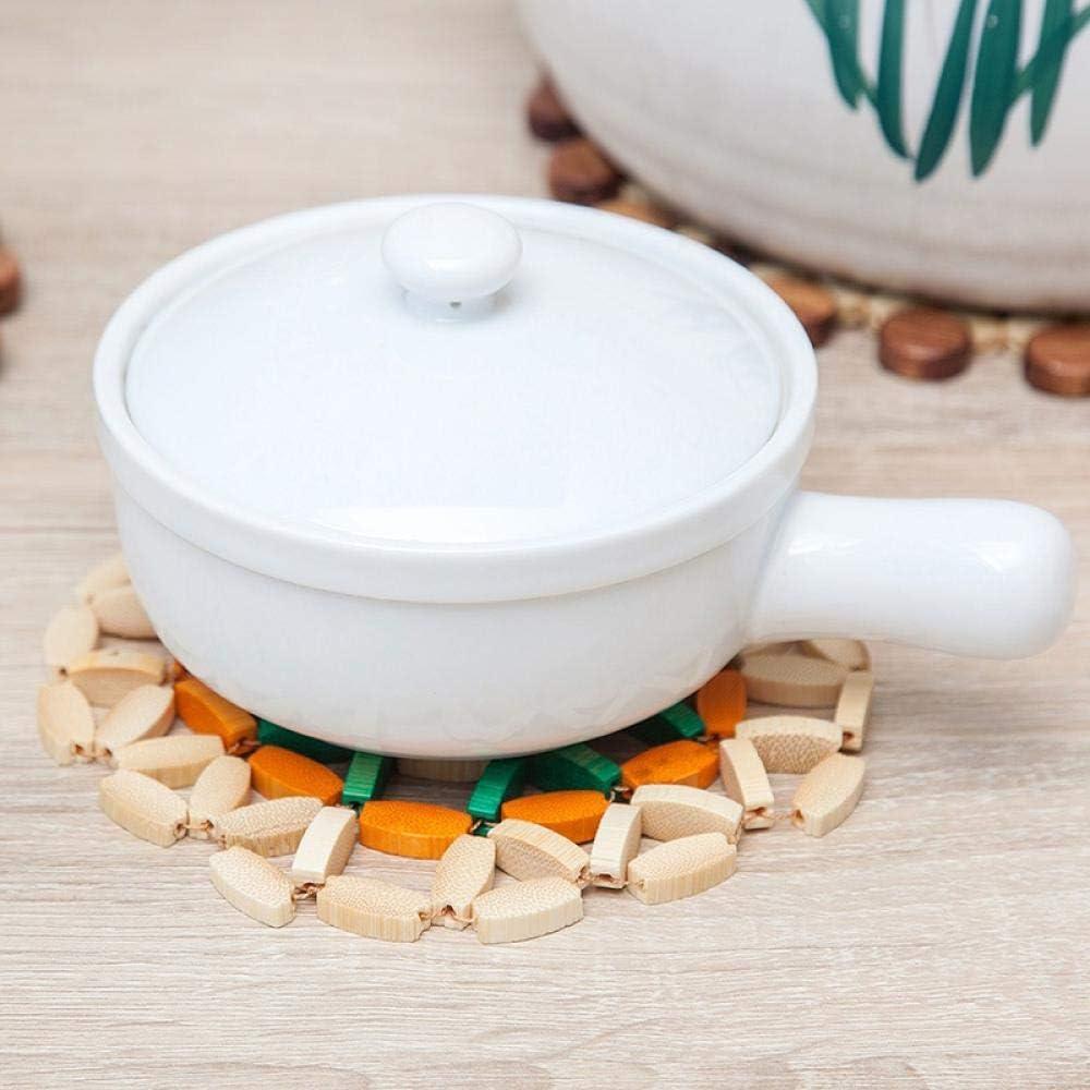 Tischsets 1St. Bambus Untersetzer Hohl Topf Tasse Matte Küche Zubehör Schreibtisch Tisch Runde Bambus Matten Tischdecke Wärmeisolierpads C. B