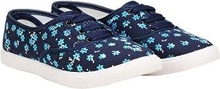 Claptrap Women Blue Printed Casual Shoes