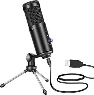 Spedal USB Microphone with Tripod Stand: Condenser Mic for Computer| PC Studio Mic for Recording| Gaming| Streaming| Podca...