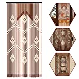 Zay Luay Inicio 1 líneas Palitos de Madera Cortina de Cuentas Puerta de bambú Persianas de Mosca Cortina de la Puerta