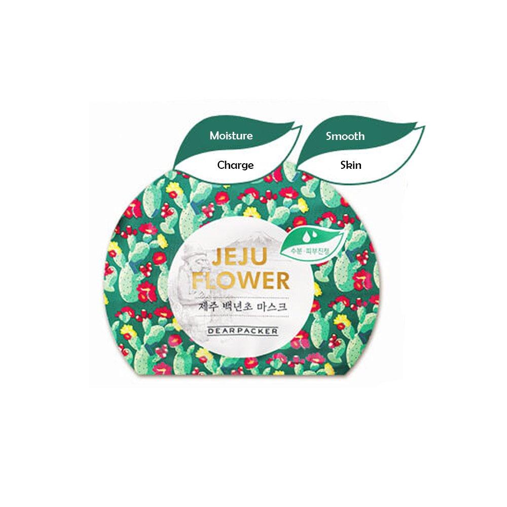 スラムはず予防接種済州花のマスクシート2018新 Jeju Flower Mask Sheet 2018 New (Baek Nyeon Flower, 3 Sheets)