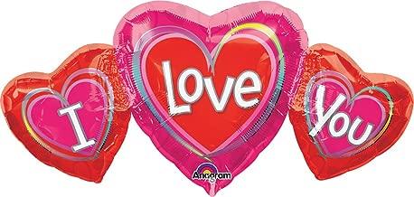 Anagram International 13843 34X16 I LOVE YOU SHAPE-FLAT, 34 by 16