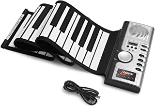 Lujex 61 Keys Roll Up Piano Upgraded Portable Rechargeable E