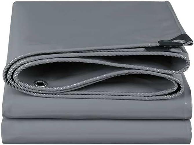 Couteau de voiture de grand camion de voiture de bache grise grattant la toile imperméable de bache de prougeection solaire de toile de bache de tissu d'Oxford avec des oeillets base universelle pour de