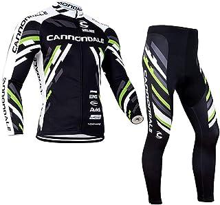 Gutsbox Zestaw odzieży rowerowej dla mężczyzn, z długim rękawem, oddychający trykot, spodenki rowerowe z wkładką 3D