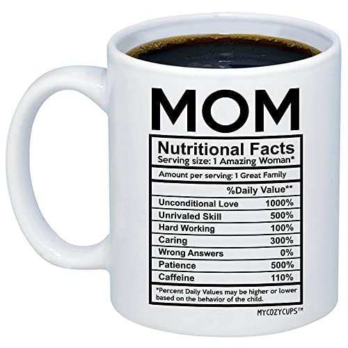 MyCozyCups Mom Nutritional Facts Coffee Mug