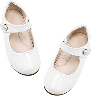 STELLE Girls Mary Jane Flats Slip-on Party Dress Shoes for Kids