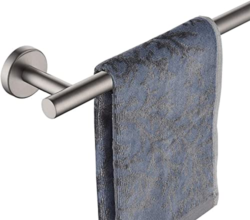 JQK Bath Towel Bar, 24 Inch Stainless Steel Towel Rack Bathroom, Towel Holder Brushed Finished Wall Mount, Total Leng...