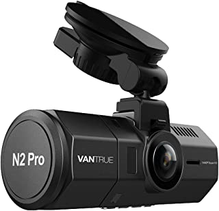 前後カメラ ドライブレコーダー VANTRUE N2 Pro 車内+車外 前後 1080P ドラレコ HDR 2カメラ 駐車監視 SONY製センサー LED信号機対策 フルHD ドライブ レコーダー 2.5K&1440P前録モード 1.5型LCD 170+140度広視野角 GPS機能(別売) 前後同時録画 18ヶ月保証期間 動体検知 衝撃録画 高速起動 赤外線暗視機能 256GB(別売)サポート 日本語説明書付き