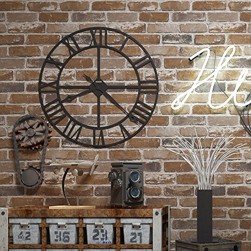 Okydoky 3D Vintage Textured Brown Brick Wallpaper, Livingroom Bedroom Kitchen Background No.57103