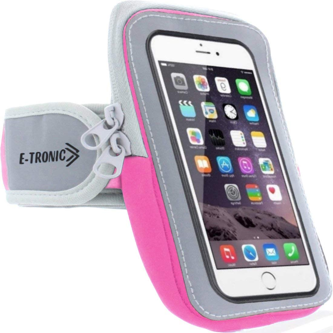 Universal Phone Holder for Running: Armband Sleeve Workout Gear Arm Pouch Case & Bag Compatible Apple iPhone 7 7S 8 8S Plus X XS XR MAX 11 & Galaxy Note 7 8 9 - All Plus Sized Phones Up to 6.4 Inches