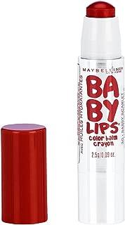 Maybelline New York Baby Lips Color Balm Crayon, Sassy Scarlet, 0.09 oz.