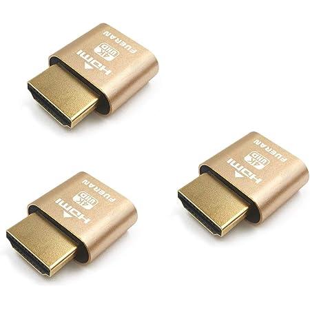 ディスプレイエミュレーター(ヘッドレス対応) 4K 4096x2160@60Hz-3パック